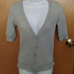 Rue21 light heather gray button up cardigan - XS
